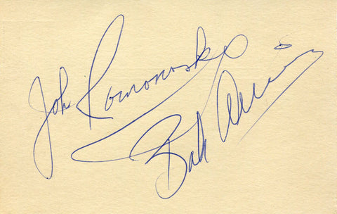 Bob Allison and John Romonosky Autographed 3x5 Postcard