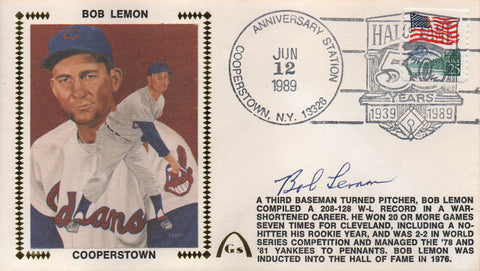 Bob Lemon Autographed June 12, 1989 First Day Cover