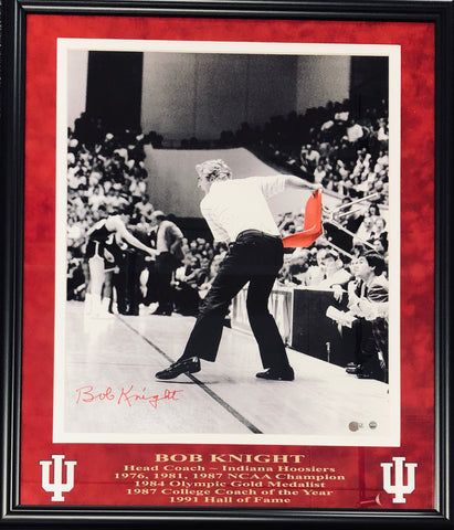 Bobby Knight Autographed Framed 16x20 Photo (Steiner)