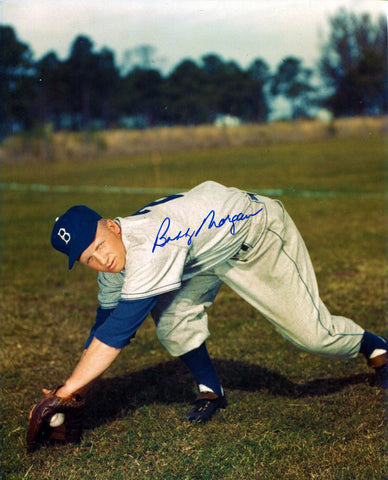 Bobby Morgan Autographed 8x10 Dodgers Photo