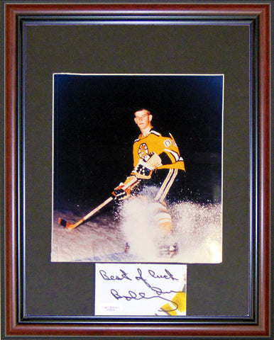 Bobby Orr Autographed Framed Cut with Unsigned 8x10 Photo (JSA)