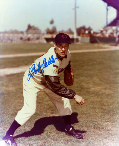Bob Feller Autographed 8x10 Throwing Photo