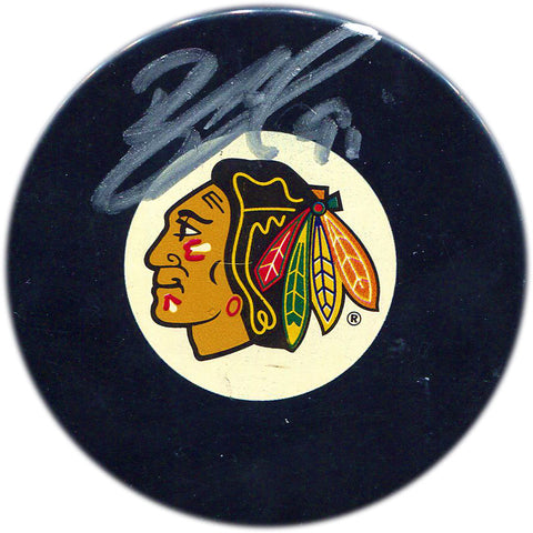 Brad Richards Autographed Chicago Blackhawks Puck (JSA)