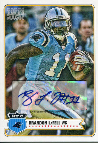 Brandon LaFell Autographed 2012 Topps Magic Card