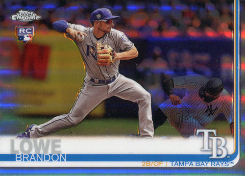 Brandon Lowe 2019 Topps Chrome Rookie Refractor Card #151