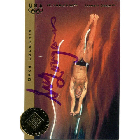Greg Louganis Autographed 1996 Upper Deck Card