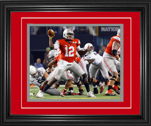 Cardale Jones Framed Passing 8x10 Photo
