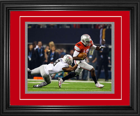 Cardale Jones Framed Running 8x10 Photo