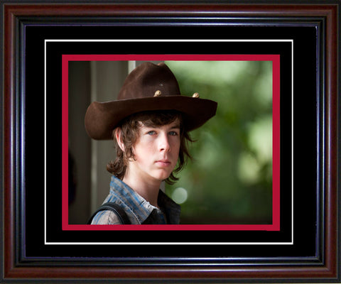 Chandler Riggs Unsigned Framed Carl Grimes Walking Dead 8x10 Photo