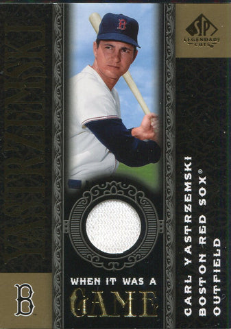 Carl Yastrzemski 2007 Upper Deck Sp Legendary Jersey Card