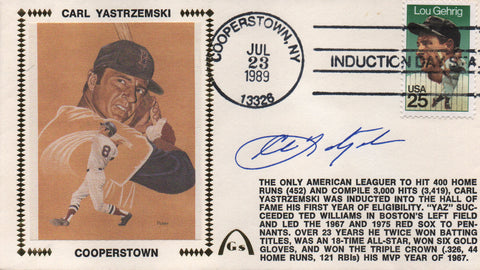Carl Yastrzemski Autographed July 23, 1989 First Day Cover (JSA)