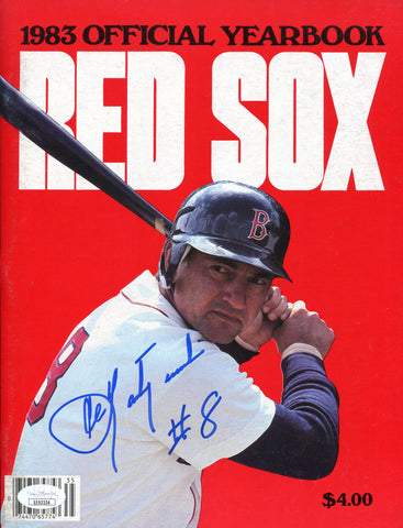 Carl Yastrzemski Autographed 1983 Boston Red Sox Yearbook (JSA)
