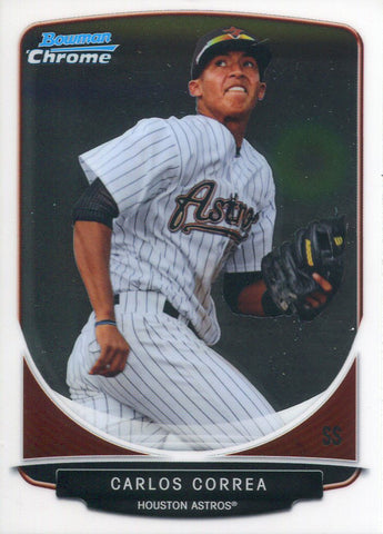 Carlos Correa Unsigned 2013 Bowman Chrome Rookie Card