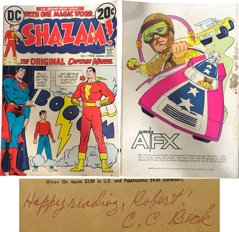 CC Beck Autographed Shazam First DC Comic Book