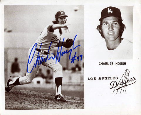 Charlie Hough Autographed 8x10 Photo