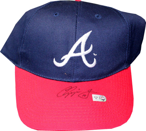 Chipper Jones Autographed Atlanta Braves Hat (JSA/MLB)