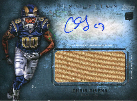 Chris Givens Autographed 2012 Topps Inception Rookie Jersey Card