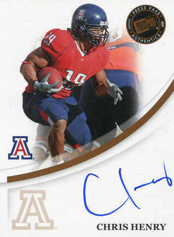 Chris Henry Autographed 2007 Press Pass Rookie Card