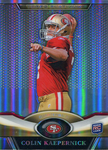 Colin Kaepernick Unsigned 2011 Topps Platinum Rookie Card