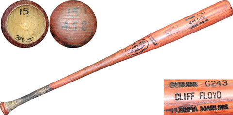 Cliff Floyd Unsigned Game Used Louisville Slugger Bat