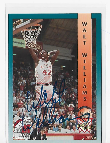 Walt Williams 1992 Front Row #94 Autograph Draft Picks Card