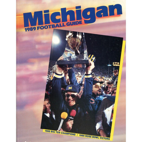 1989 University of Michigan Unsigned Football Guide