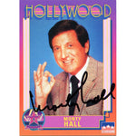 Monty Hall Autographed Hollywood Card