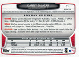 Danny Salazar Unsigned 2013 Bowman Chrome Rookie Refractor Card