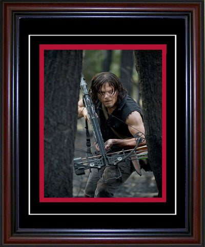 Norman Reedus Unsigned Framed Daryl Dixon Walking Dead 8x10 Photo