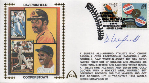 Dave Winfield Autographed Aug 5, 2001 First Day Cover
