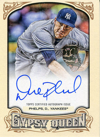 David Phelps Autographed 2014 Topps Gypsy Queen Card