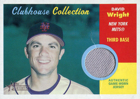 David Wright Unsigned 2006 Topps Heritage Jersey Card