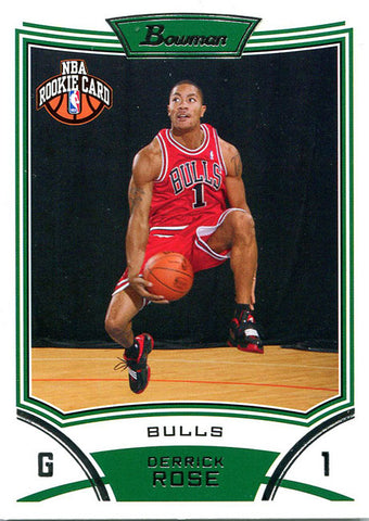 Derrick Rose Unsigned 2008-09 Bowman Card
