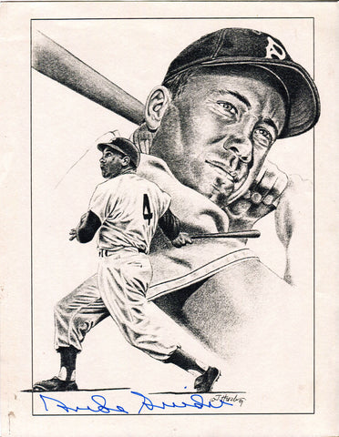 Duke Snider Autographed 8x10 Black and White Litho