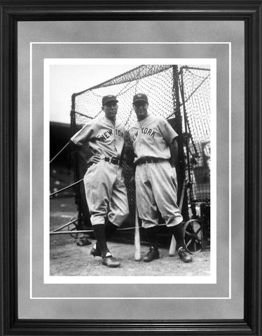 Bill Dickey and Lou Gehrig Framed Black & White 11x14 Photo
