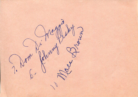 Dom DiMaggio & Others Autographed Cut (JSA)
