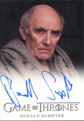 Donald Sumpter Autographed 2012 Game of Thrones Card