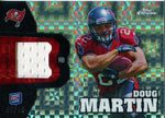 Doug Martin Unsigned Player Worn Jersey Topps Chrome Rookie Card