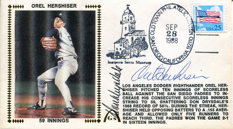 Don Drysdale & Orel Hershiser Autographed Gateway First Day Cover (JSA)