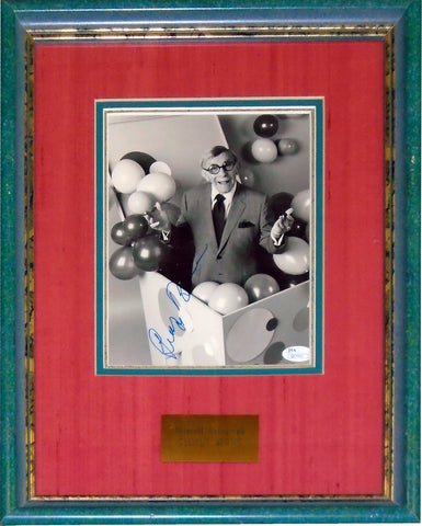 George Burns Autographed Framed 8x10 Photo (JSA)