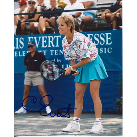 Chris Evert Autographed 8x10
