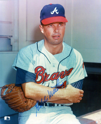 Eddie Mathews Autographed 8x10 Sitting Photo