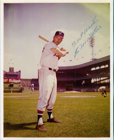 Eddie Mathews Autographed 8x10 JSA Certified Photo