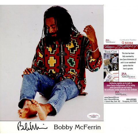 Bobby McFerrin Signed 8x10 Photo JSA