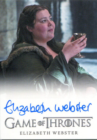 Elizabeth Webster Autographed 2015 Game of Thrones Card