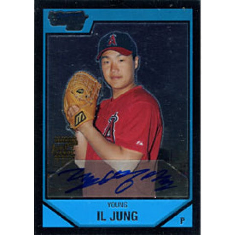 Il Jung Autographed / Signed 2007 Topps Bowman Los Angeles Angels Baseball Chrome Card