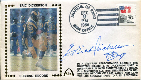 Eric Dickerson Autographed Gateway First Day Cover