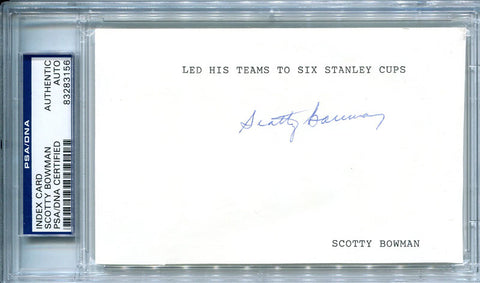 Scotty Bowman Autographed 3x5 Card