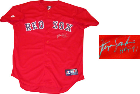 Fergie Jenkins HOF 91 Autographed Boston Red Sox Red Jersey