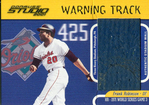 Frank Robinson 2001 Donruss Studio Warning Track Card